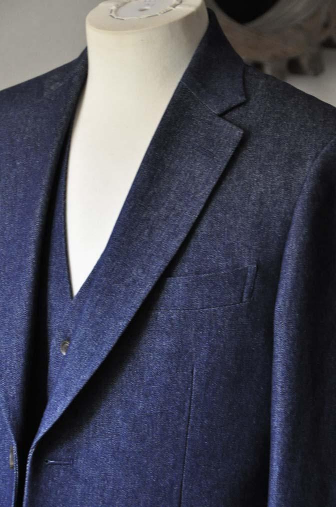 DSC0938-1 お客様のスーツの紹介- デニムスリーピース-