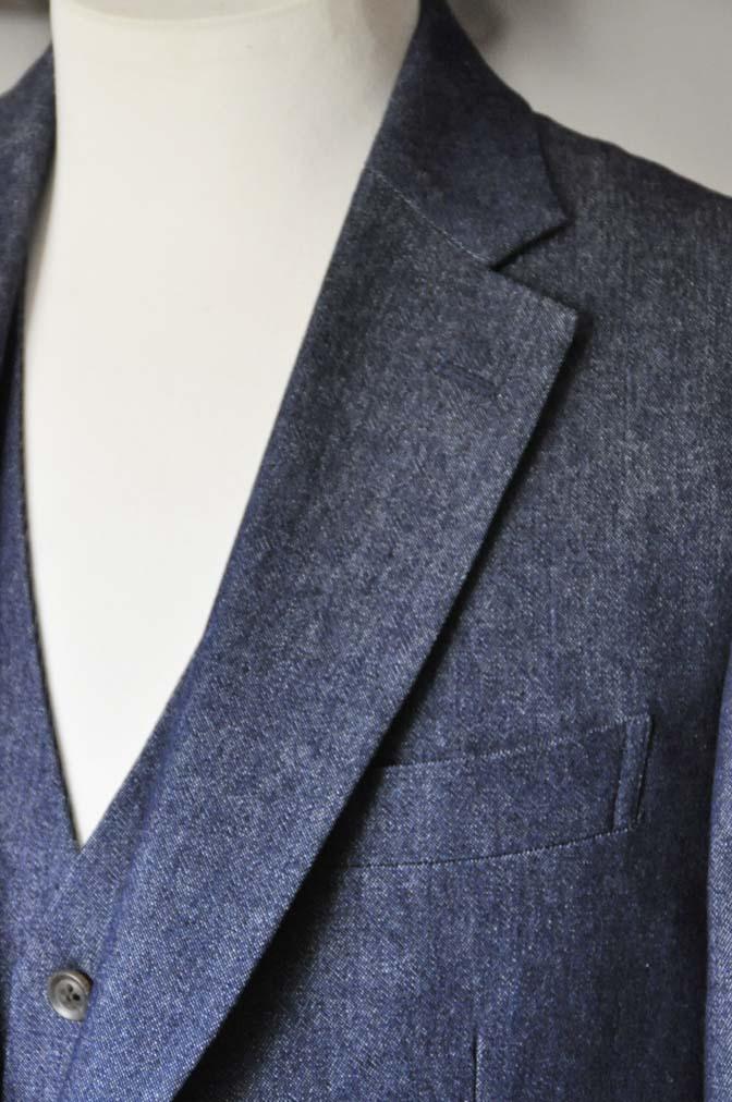 DSC0939-1 お客様のスーツの紹介- デニムスリーピース-DSC0939-1 お客様のスーツの紹介- デニムスリーピース- 名古屋市のオーダータキシードはSTAIRSへ