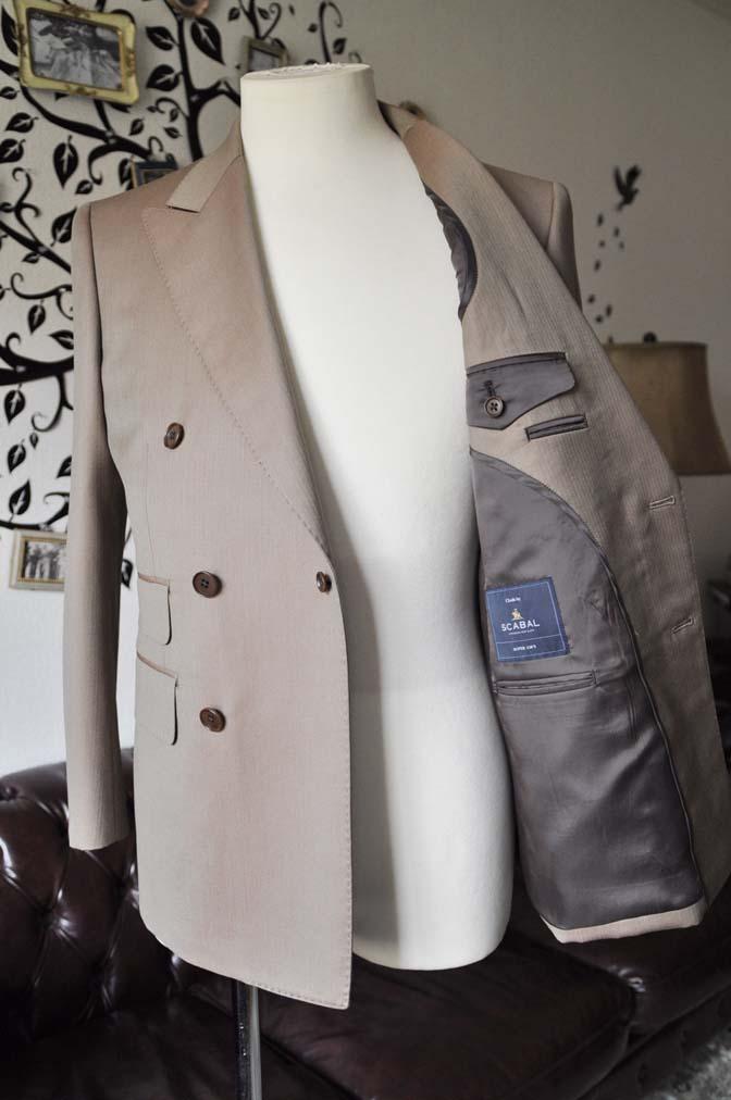 DSC0939-3 お客様のスーツの紹介-SCABAL GOLDEN RIBBONブラウンソラーロダブルスーツ-