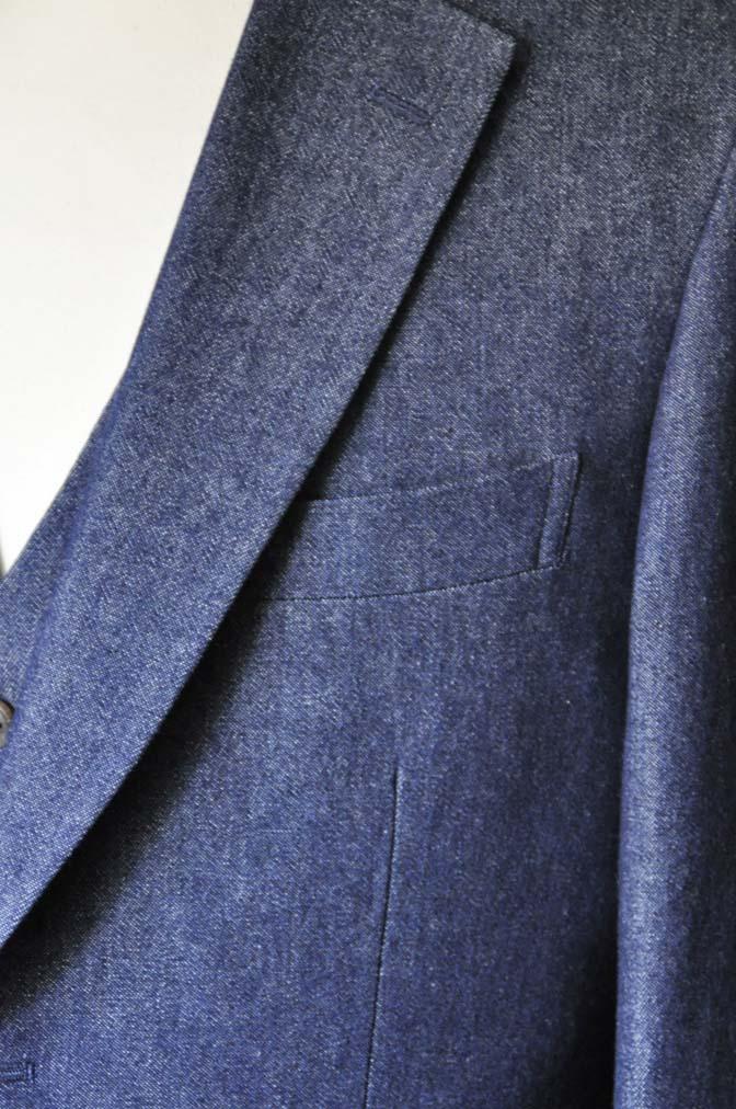 DSC0940-1 お客様のスーツの紹介- デニムスリーピース-