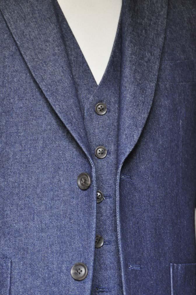 DSC0942 お客様のスーツの紹介- デニムスリーピース-