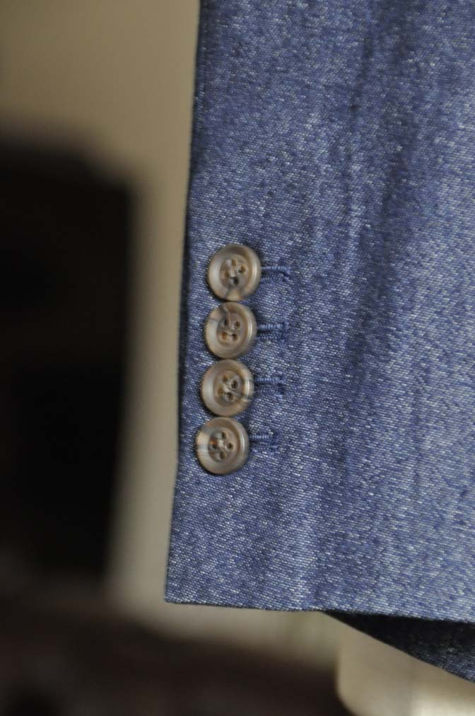 DSC0944-1 お客様のスーツの紹介- デニムスリーピース-DSC0944-1 お客様のスーツの紹介- デニムスリーピース- 名古屋市のオーダータキシードはSTAIRSへ
