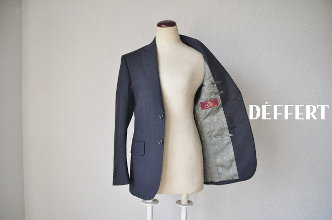 DSC09441 お客様のスーツの紹介-BIELLESI チャコールグレーヘリンボーンスーツ-