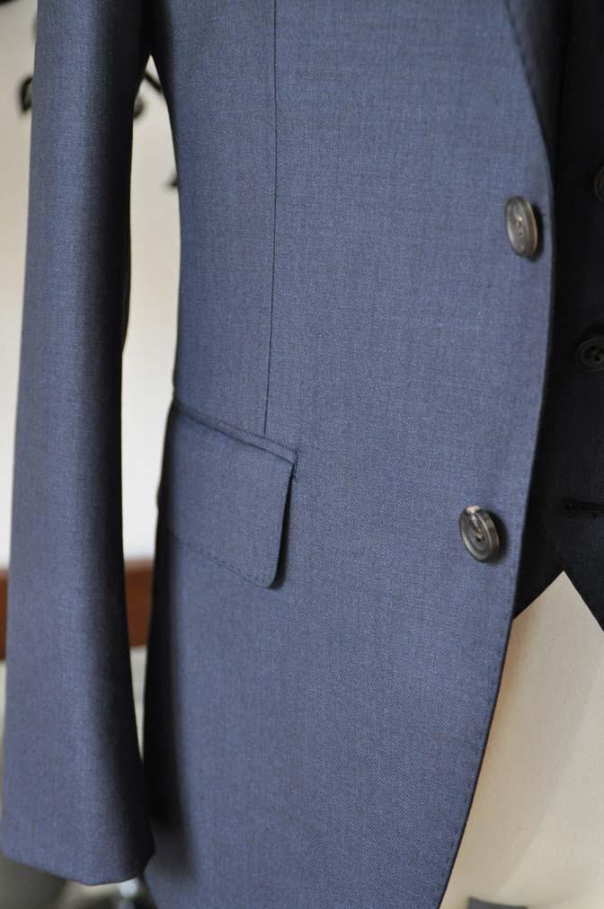 DSC0950-3 お客様のスーツの紹介-Biellesi 無地ネイビースリーピース- 名古屋の完全予約制オーダースーツ専門店DEFFERT