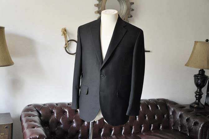 DSC0951-2 お客様のスーツの紹介-ブラックスーツ- 名古屋の完全予約制オーダースーツ専門店DEFFERT