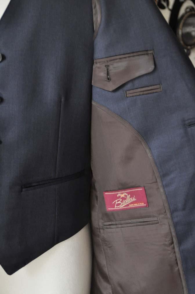 DSC0954-2 お客様のスーツの紹介-Biellesi 無地ネイビースリーピース- 名古屋の完全予約制オーダースーツ専門店DEFFERT