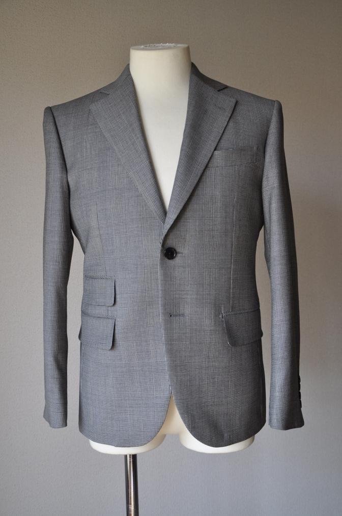 DSC09582 お客様のジャケットの紹介-グレンチェックジャケット- 名古屋の完全予約制オーダースーツ専門店DEFFERT