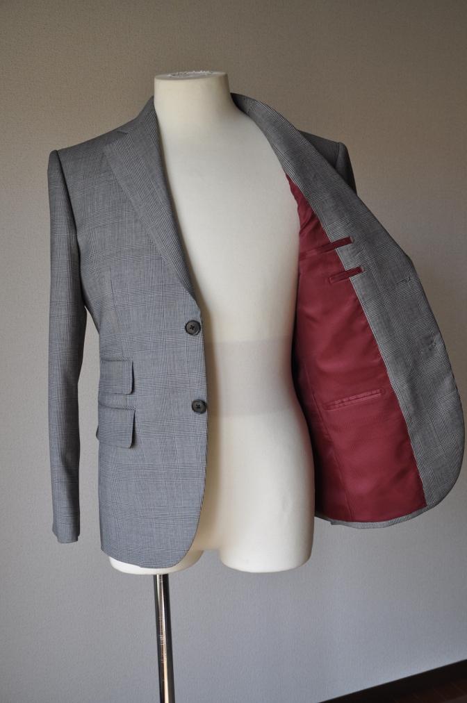 DSC0960 お客様のジャケットの紹介-グレンチェックジャケット- 名古屋の完全予約制オーダースーツ専門店DEFFERT