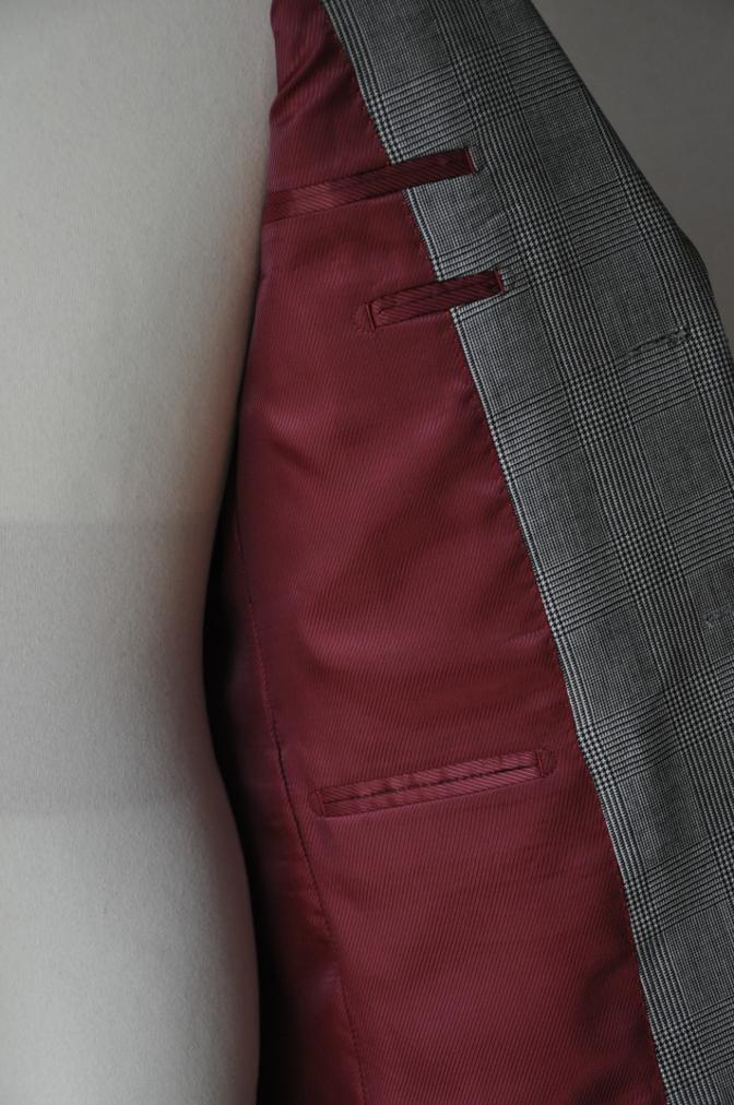 DSC09611 お客様のジャケットの紹介-グレンチェックジャケット- 名古屋の完全予約制オーダースーツ専門店DEFFERT