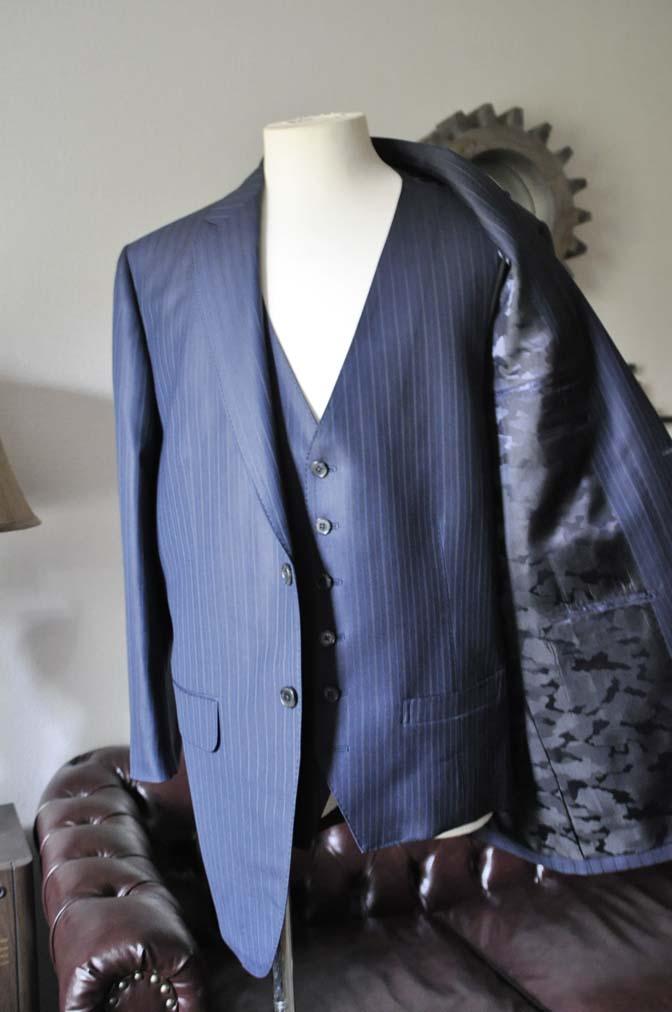 DSC0962-2 お客様のスーツの紹介-ネイビーストライプスーツ-