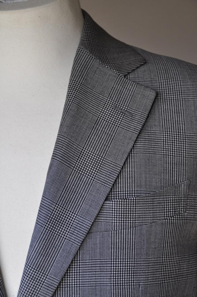 DSC09622 お客様のジャケットの紹介-グレンチェックジャケット- 名古屋の完全予約制オーダースーツ専門店DEFFERT
