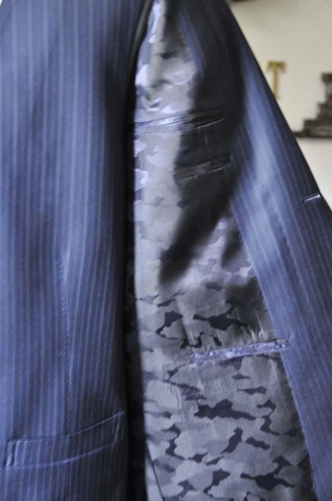 DSC0963-2 お客様のスーツの紹介-ネイビーストライプスーツ-