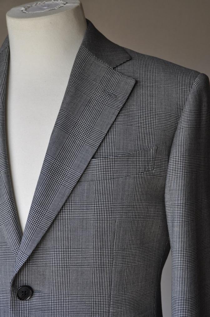 DSC0963 お客様のジャケットの紹介-グレンチェックジャケット- 名古屋の完全予約制オーダースーツ専門店DEFFERT