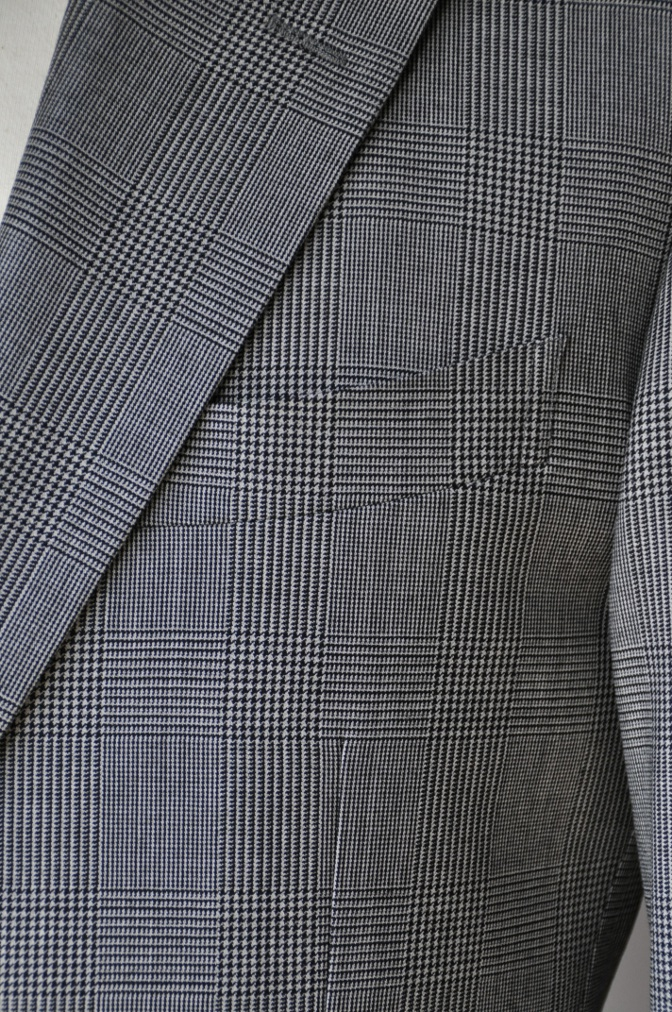 DSC0964 お客様のジャケットの紹介-グレンチェックジャケット- 名古屋の完全予約制オーダースーツ専門店DEFFERT
