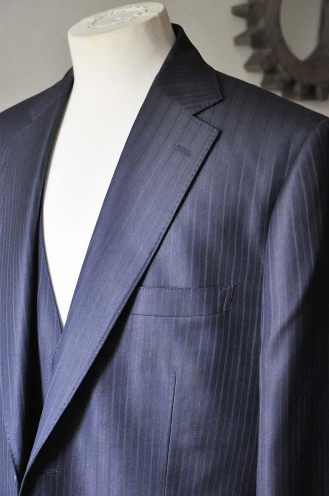 DSC0965-2 お客様のスーツの紹介-ネイビーストライプスーツ-