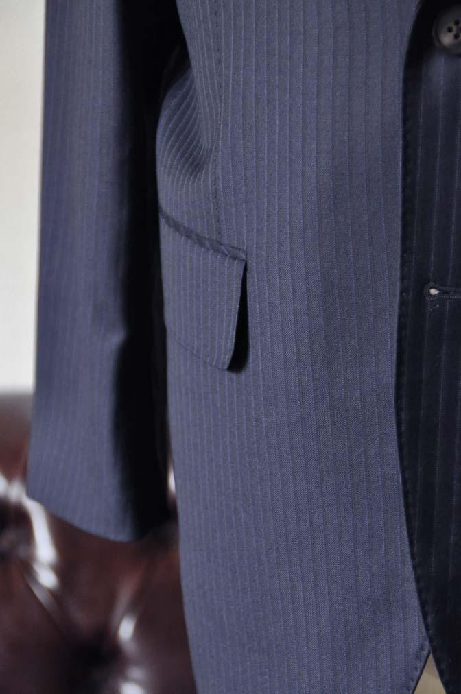 DSC0965-3 お客様のスーツの紹介-CANONICOネイビーストライプスーツ-