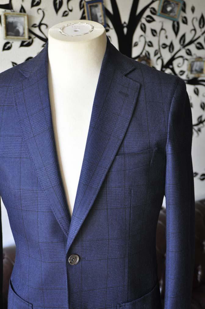 DSC0966-1 お客様のスーツの紹介-DARROW DALEネイビーチェック フランネルスーツ-