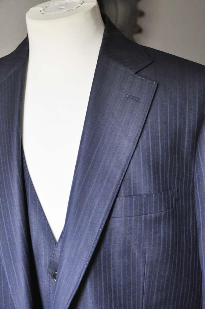 DSC0966-2 お客様のスーツの紹介-ネイビーストライプスーツ-