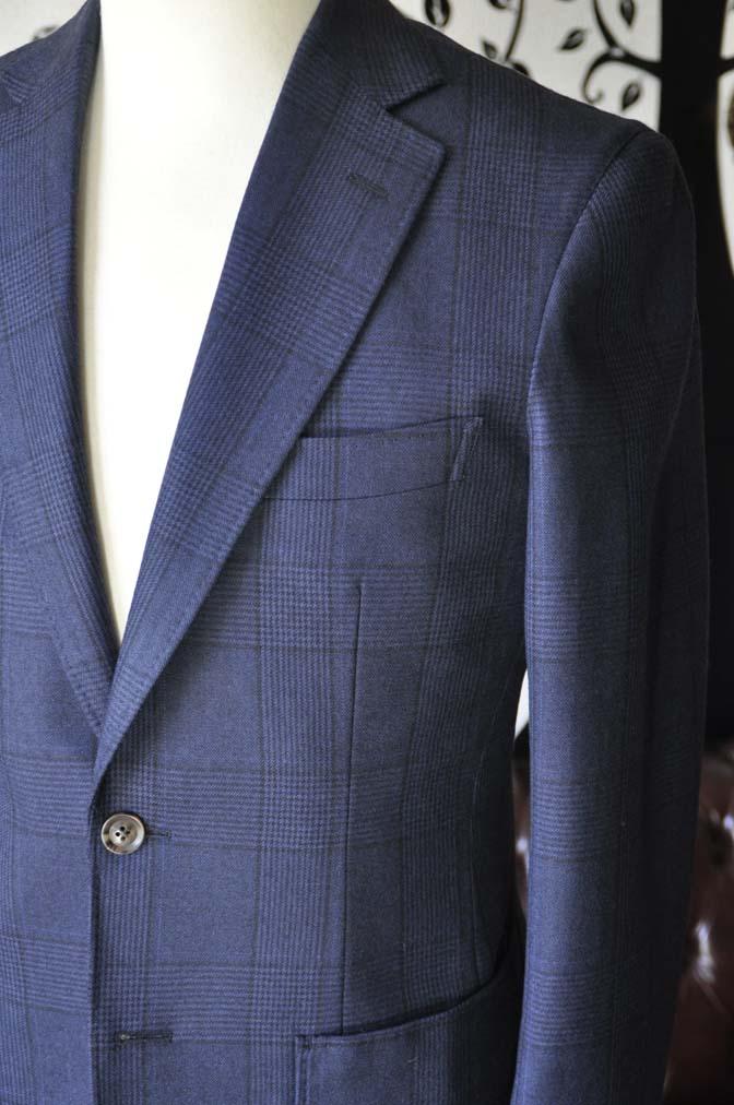 DSC0967-1 お客様のスーツの紹介-DARROW DALEネイビーチェック フランネルスーツ-