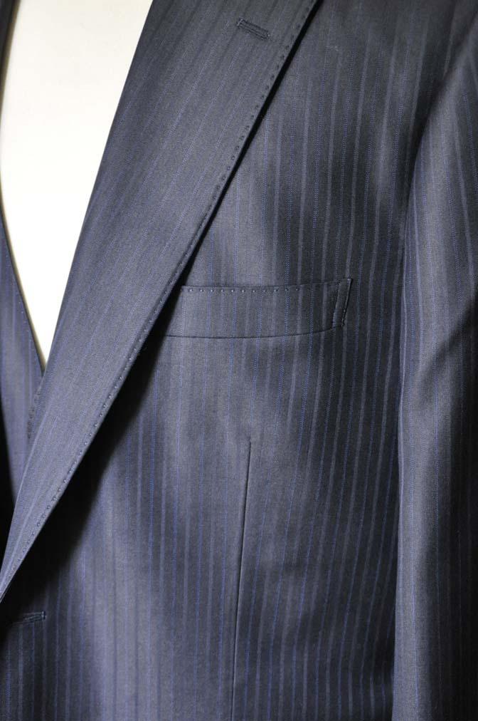 DSC0967-2 お客様のスーツの紹介-ネイビーストライプスーツ-
