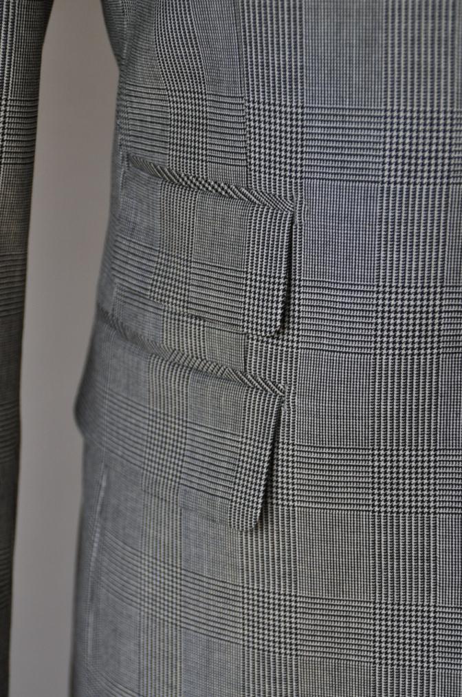 DSC09671 お客様のジャケットの紹介-グレンチェックジャケット- 名古屋の完全予約制オーダースーツ専門店DEFFERT