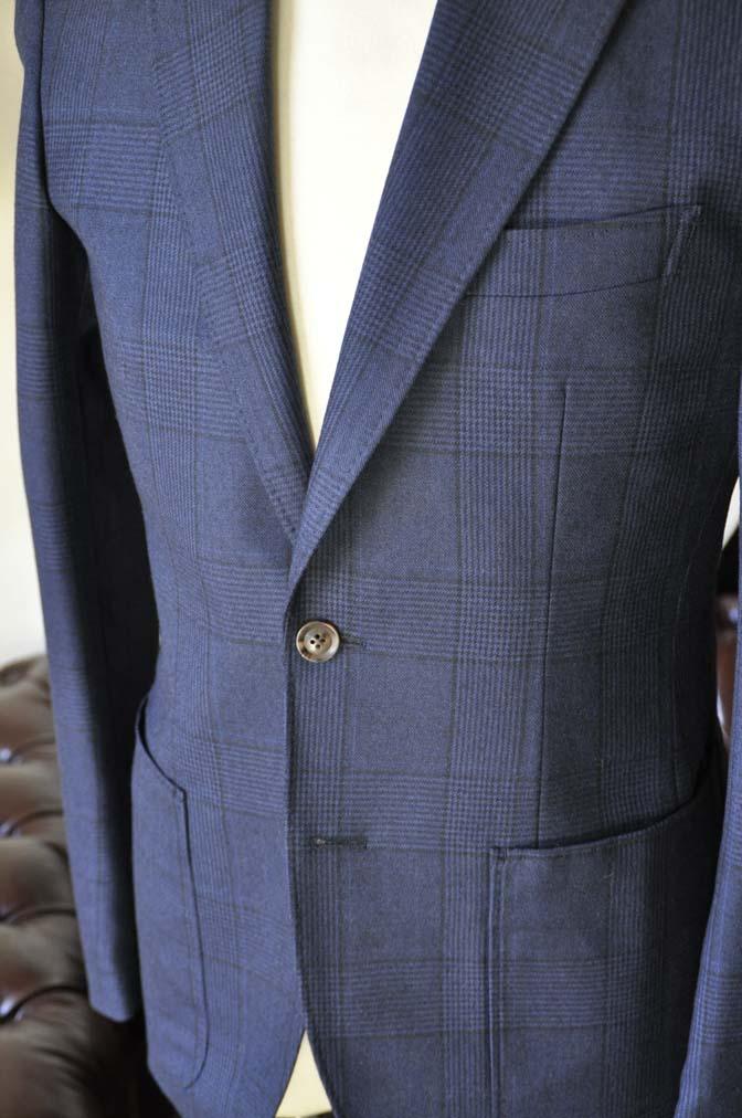 DSC0968-2 お客様のスーツの紹介-DARROW DALEネイビーチェック フランネルスーツ-