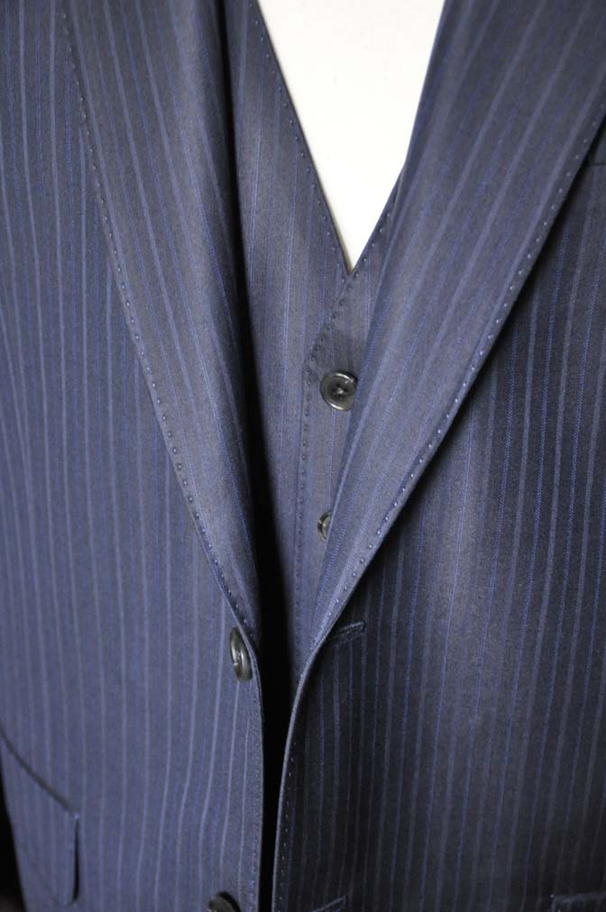 DSC0968-3 お客様のスーツの紹介-ネイビーストライプスーツ-