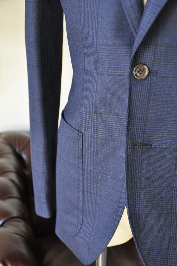 DSC0969-2 お客様のスーツの紹介-DARROW DALEネイビーチェック フランネルスーツ-
