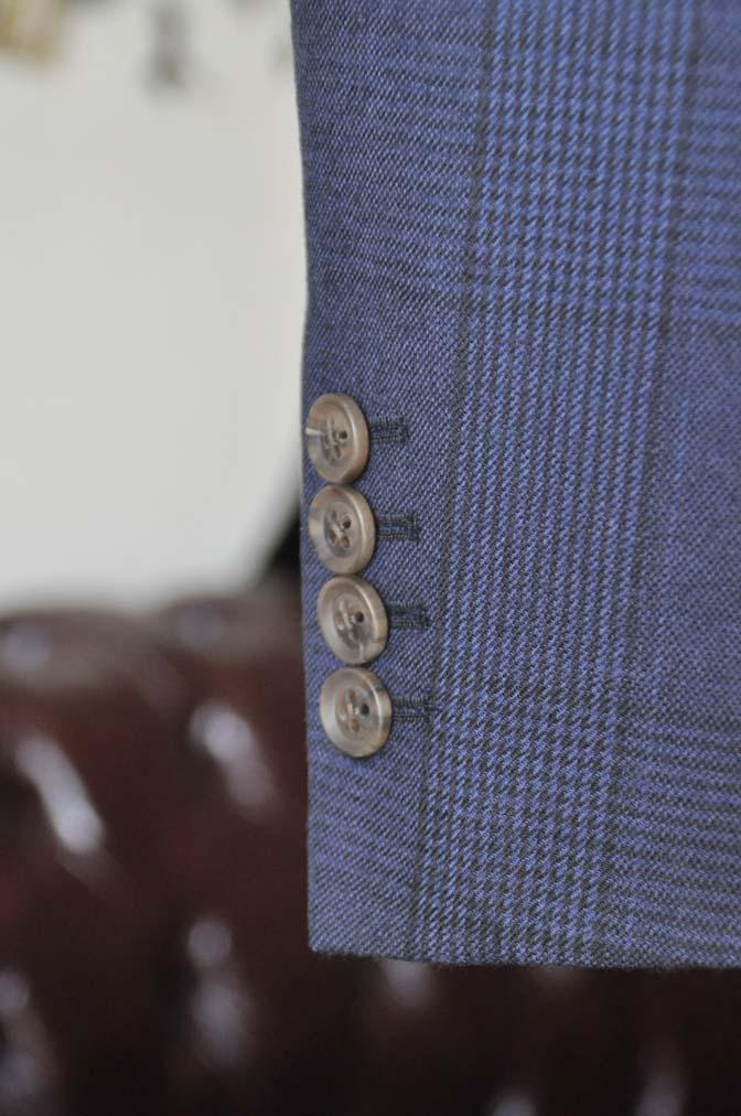 DSC0970-2 お客様のスーツの紹介-DARROW DALEネイビーチェック フランネルスーツ-