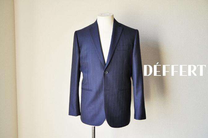 DSC09702 お客様のスーツの紹介-CANONICO ネイビーストライプ-