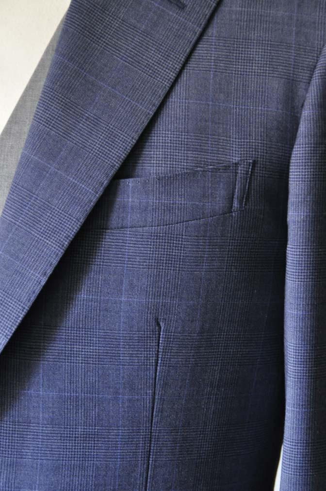 DSC0971-1 お客様のウエディング衣装の紹介- Biellesi ネイビーチェックスーツ グレーベスト-
