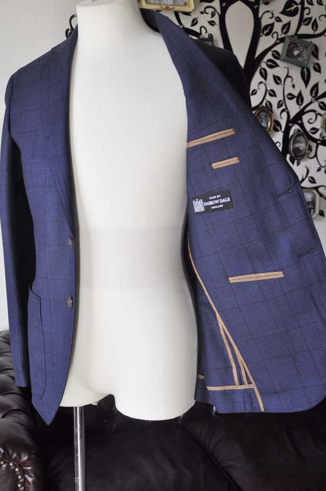 DSC0972-2 お客様のスーツの紹介-DARROW DALEネイビーチェック フランネルスーツ-