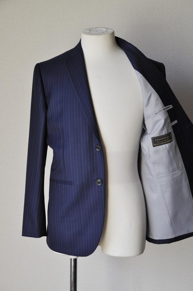 DSC09721 お客様のスーツの紹介-CANONICO ネイビーストライプ-