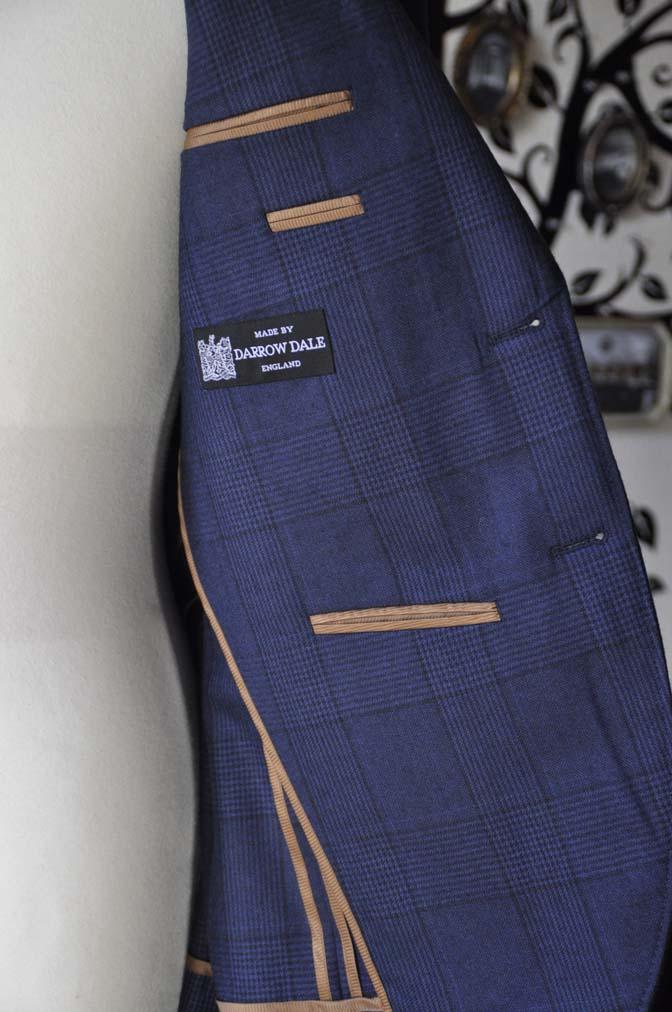 DSC0973-2 お客様のスーツの紹介-DARROW DALEネイビーチェック フランネルスーツ-