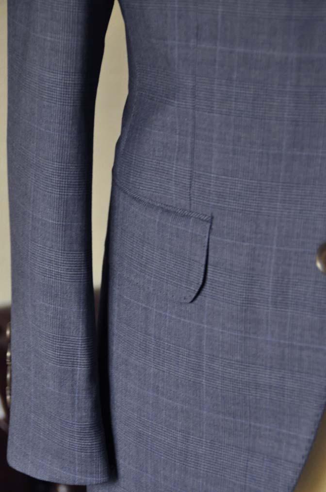 DSC0974-1 お客様のウエディング衣装の紹介- Biellesi ネイビーチェックスーツ グレーベスト-