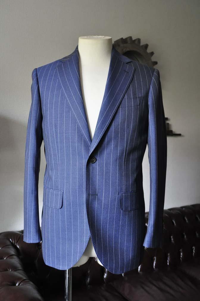 DSC0977-1 お客様のスーツの紹介- Canonico ネイビーストライプスーツ-