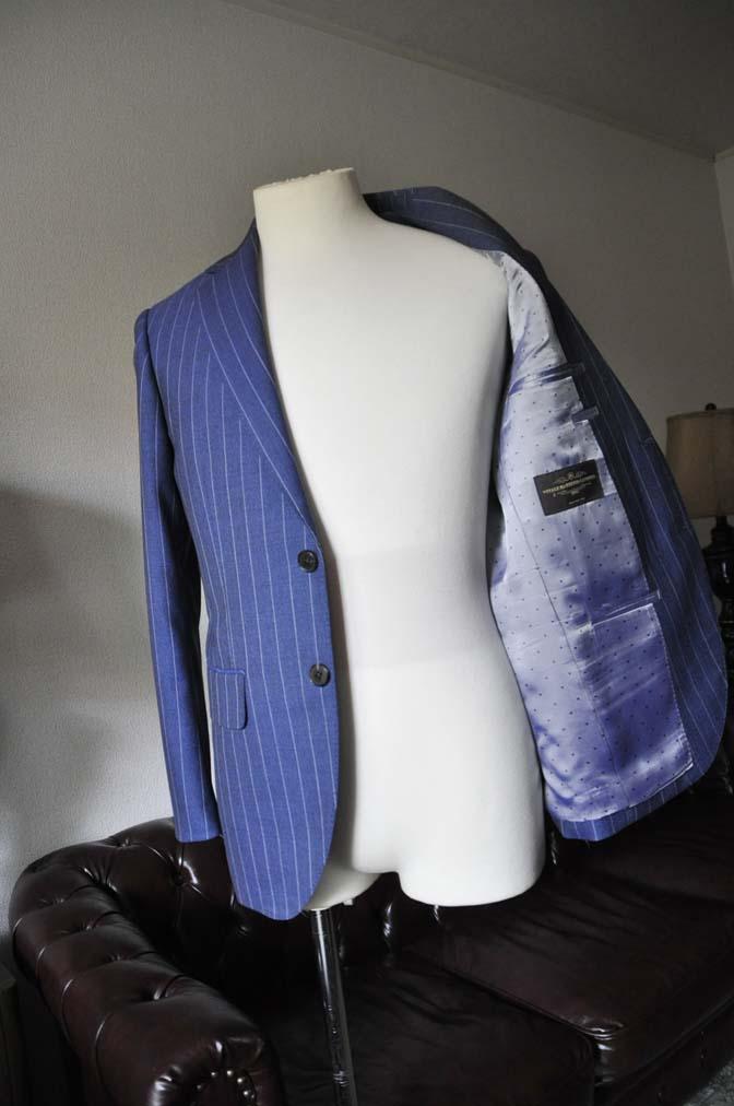 DSC0978-1 お客様のスーツの紹介- Canonico ネイビーストライプスーツ-