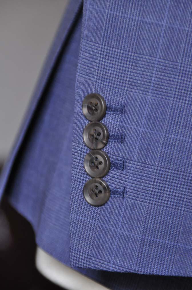 DSC0980-1 お客様のウエディング衣装の紹介- Biellesi ネイビーチェックスーツ グレーベスト-