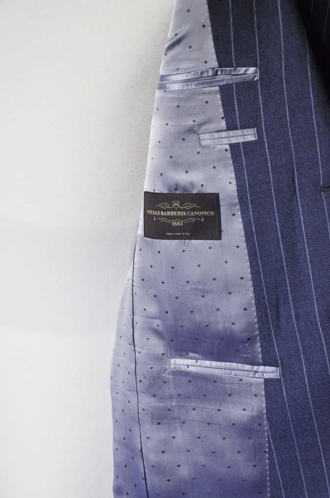 DSC0980-2 お客様のスーツの紹介- Canonico ネイビーストライプスーツ-