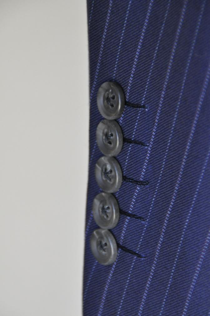 DSC09801 お客様のスーツの紹介-CANONICO ネイビーストライプ-