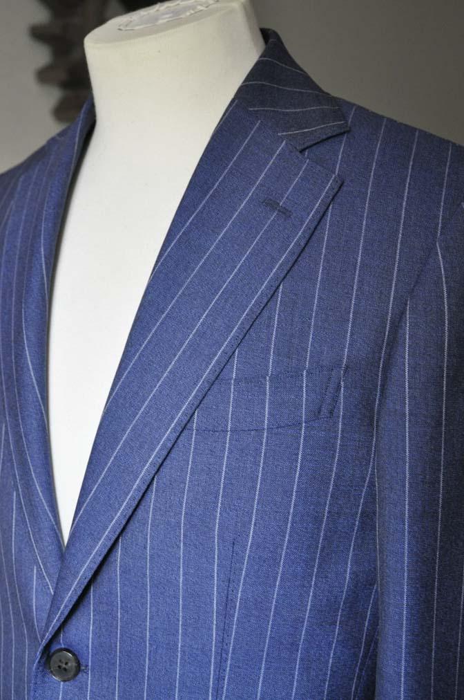 DSC0982-1 お客様のスーツの紹介- Canonico ネイビーストライプスーツ-