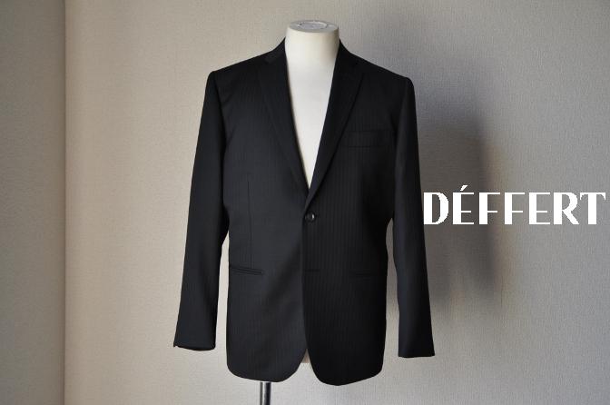 DSC09833 お客様のスーツの紹介-BIELLESI ブラックストライプ- 名古屋の完全予約制オーダースーツ専門店DEFFERT