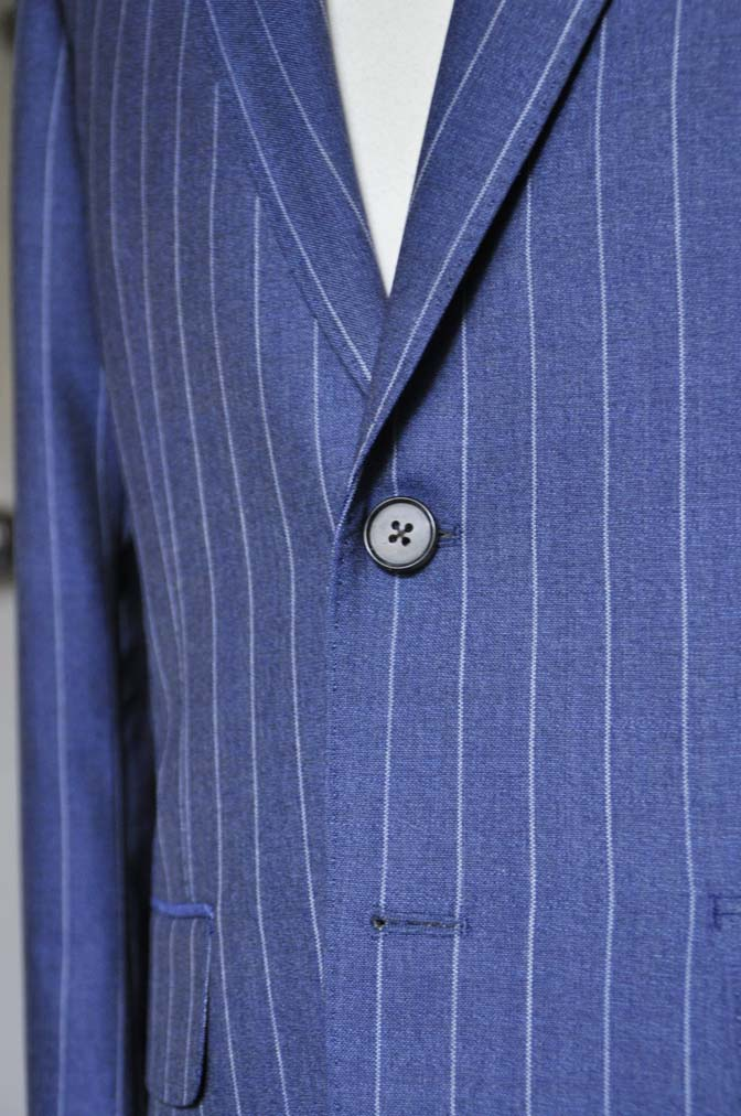 DSC0985-1 お客様のスーツの紹介- Canonico ネイビーストライプスーツ-