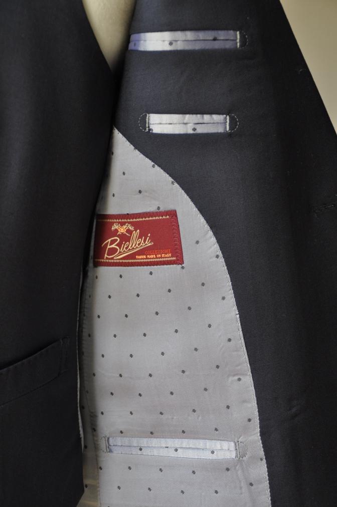 DSC0985 お客様のスーツの紹介-BIELLESI ネイビー スリーピース-