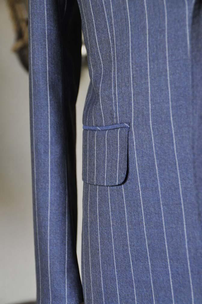 DSC0986-1 お客様のスーツの紹介- Canonico ネイビーストライプスーツ-