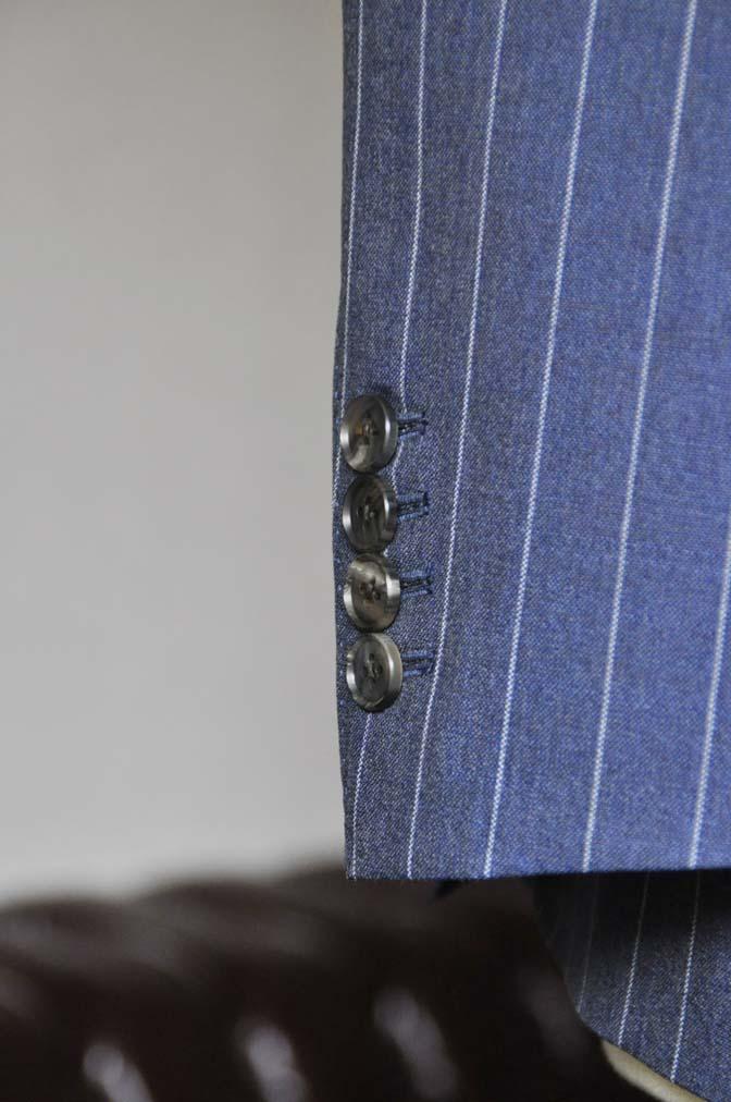 DSC0988-1 お客様のスーツの紹介- Canonico ネイビーストライプスーツ-
