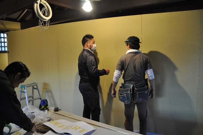DSC1009-2 着々と進む内装工事。 名古屋の完全予約制オーダースーツ専門店DEFFERT