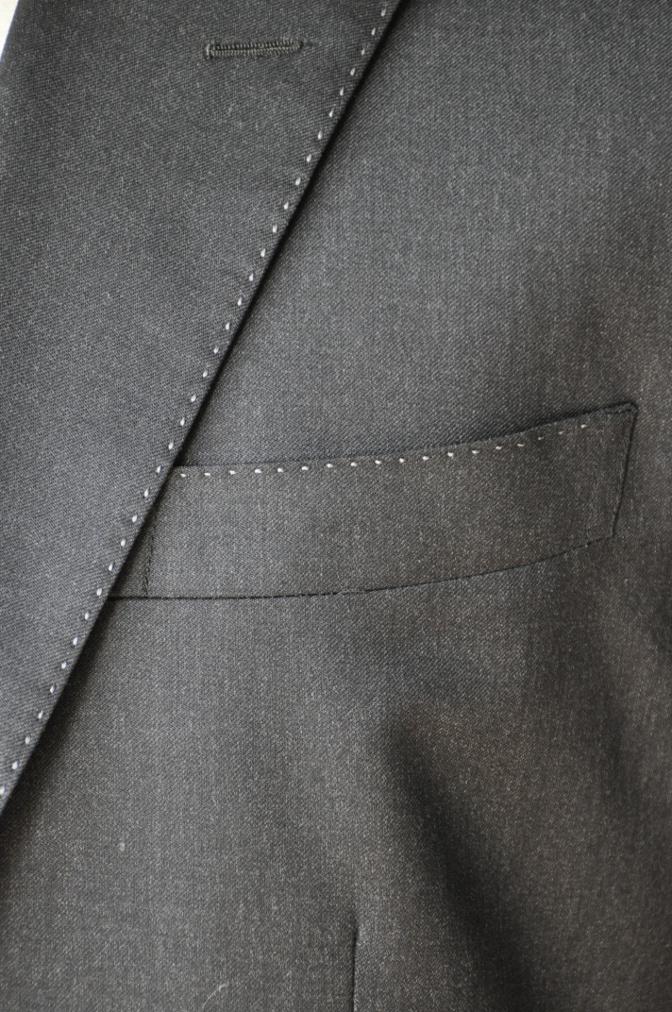 DSC10131 お客様のスーツの紹介-BIELLESI チャコールグレー スリーピース-