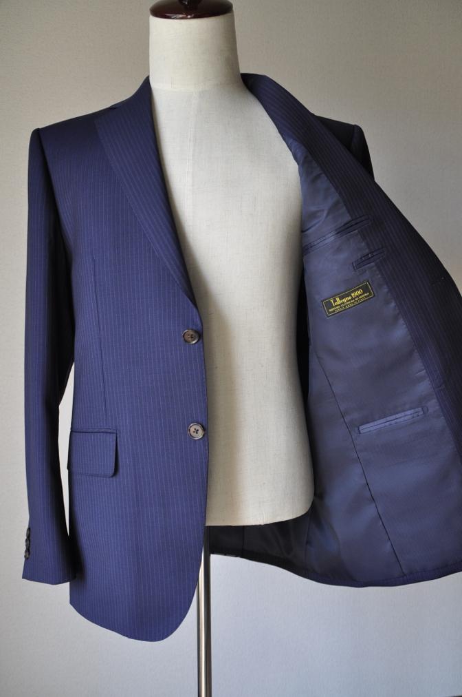 DSC10291 お客様のスーツの紹介-Tollegno ネイビーストライプ-