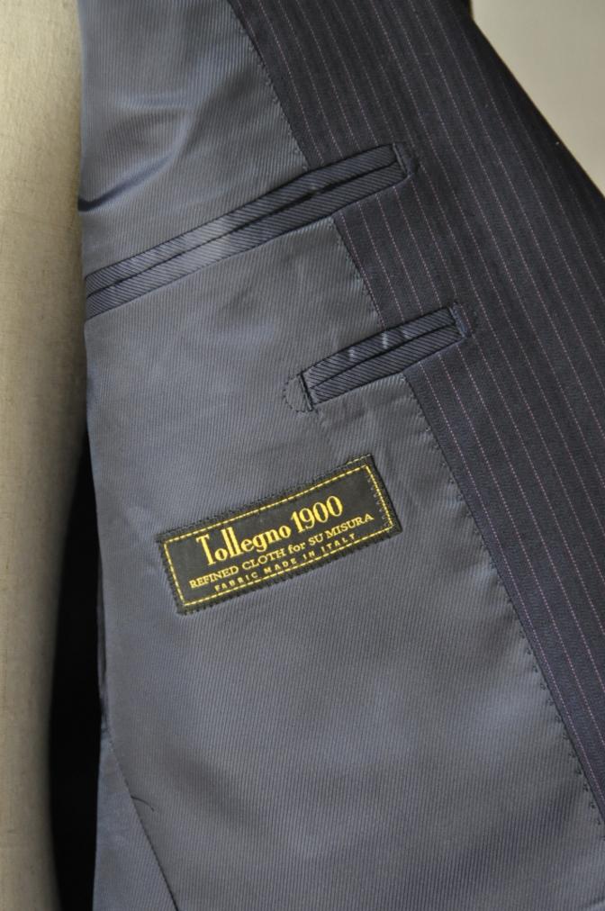 DSC10301 お客様のスーツの紹介-Tollegno ネイビーストライプ-